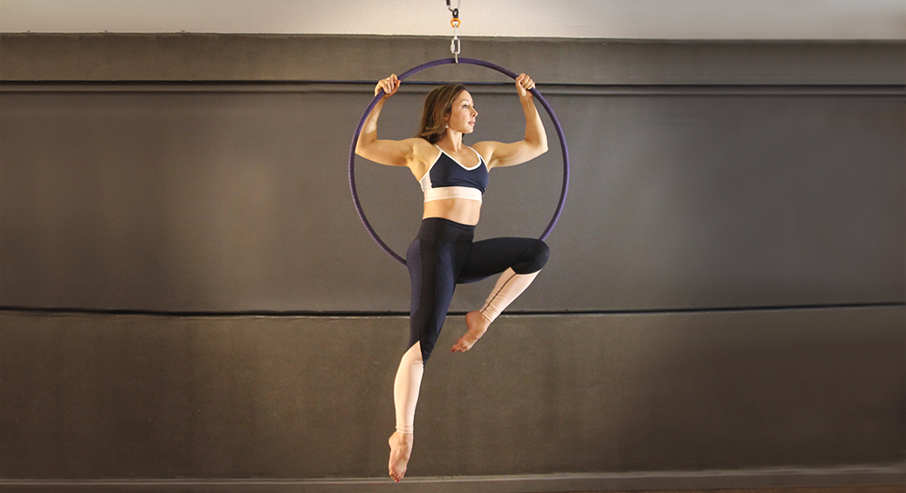 Pole Athletica offers courses in Aerial Hoop, Lyra