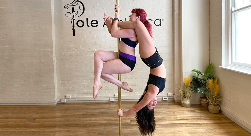 Learn fun acro balances and partner pole work in our upcoming Doubles Workshop