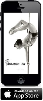 Download the Pole Athletica app via Itunes
