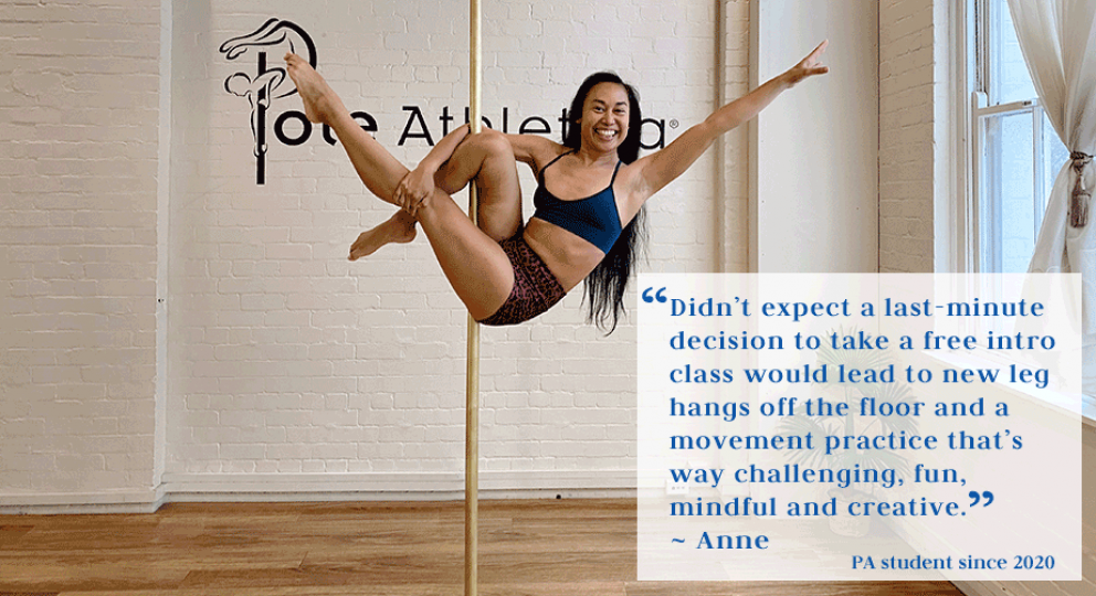 Pole Dance Testimonial from Anne