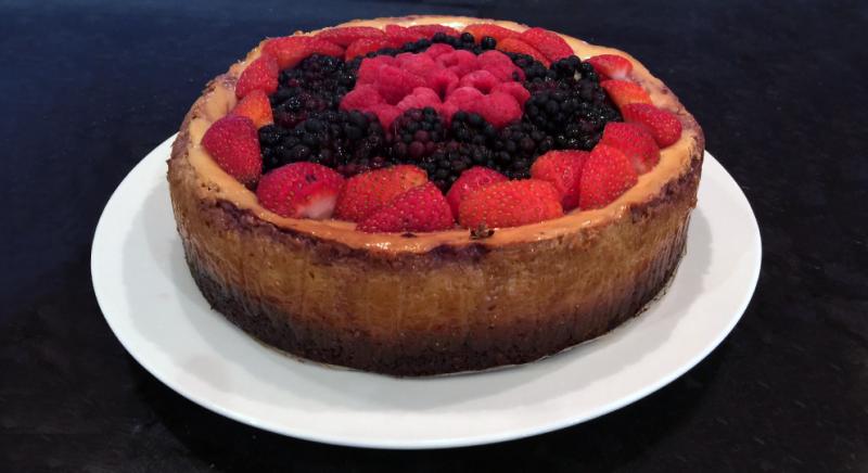 No Sugar Healthy Berry Cheesecake Recipe