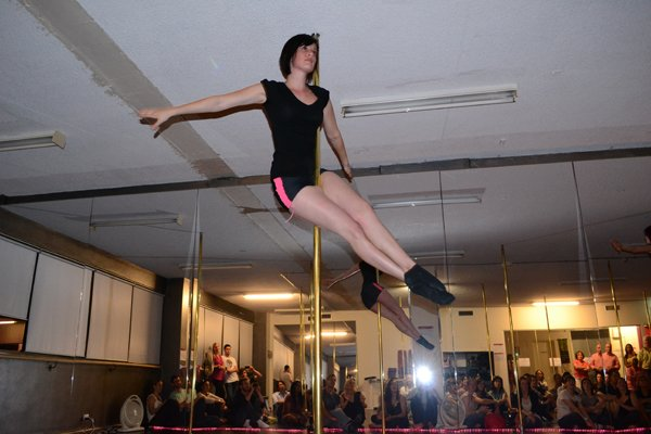 Jane's debut pole dancing performance at Studio Verve's December 2011 Open Night