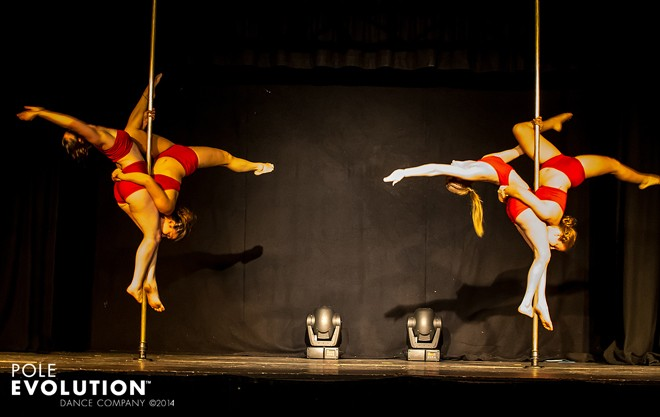 Studio Verve instructors reahearsing their opening act for the recent Sydney Pole Show 'ELEMENTS'