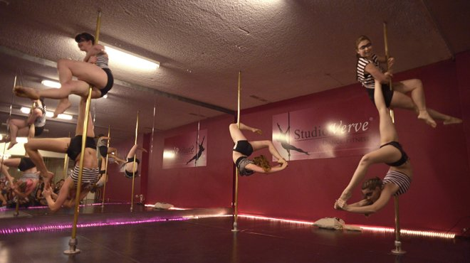 "Studio Verve instructors aka ""Fusion Five"" have been selected as finalists for the 2014 NSW Pole Championships Group Division"