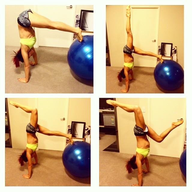 Haejin handstand