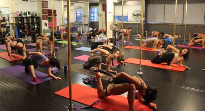 Stretch classes for pole dancers are available at Studio Verve Dance Fitness, Sydney