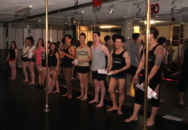 Studio Verve's cast of pole performers