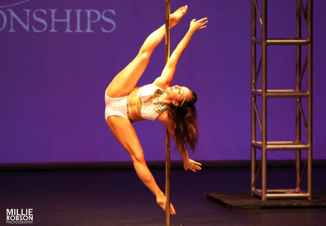 Studio Verve instructor Jennifer Grace is a 2014 NSW Pole Championships Professional finalist