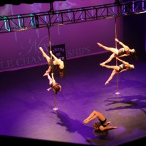 Studio Verve instructors aka 'Fusion Five' performing at the NSW Pole Championships