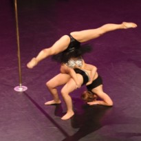 Studio Verve instructors aka Fusion Five performing at the NSW Pole Championships