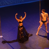 Advanced Studio Verve students Michala & Kayla performing in the group division of the NSW Pole Championships