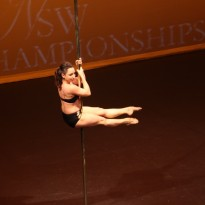 Studio Verve instructor Jennifer Grace performing in the professional division of the NSW Pole Championships