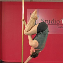 Studio Verve offers separate Men' Pole Dancing for Beginners, Intermediate and Advanced students