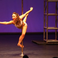Studio Verve PoleFit Instructor Jennifer Grace performs at the 2013 Australian Pole Championships