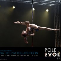 "Joanna is a featured Guest Artist in Pole Evolution's latest production ""Elements"""