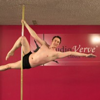Studio Verve offers PoleFit for Men courses Beginners, Intermediate and Advanced students