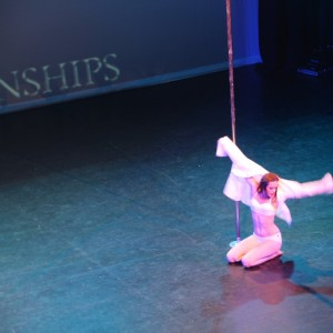 Jane Rhiana representing Studio Verve in the Amateur division of the NSW Pole Championships