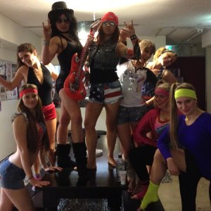 80s themed end of term celebrations at Studio Verve pole dancing studio Sydney