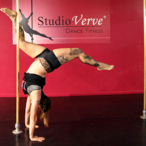 Alicia Pole Dancing Student Studio Verve Surry Hills Sydney Tattoo