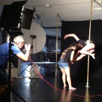A behind the scenes look at Studio Verve's recent Pole Dancing Photo Shoot